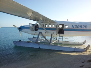 Our sea plan landed on the water, as sea planes are wont to do, and taxied up to the beach...ahhh